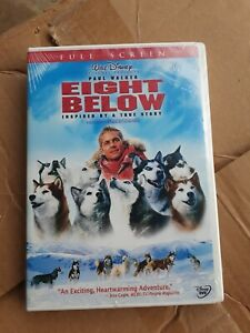Walt-Disney-Eight-Below-DVD-Paul-Walker-Bonus-Full-Screen-2006-Factory-Sealed