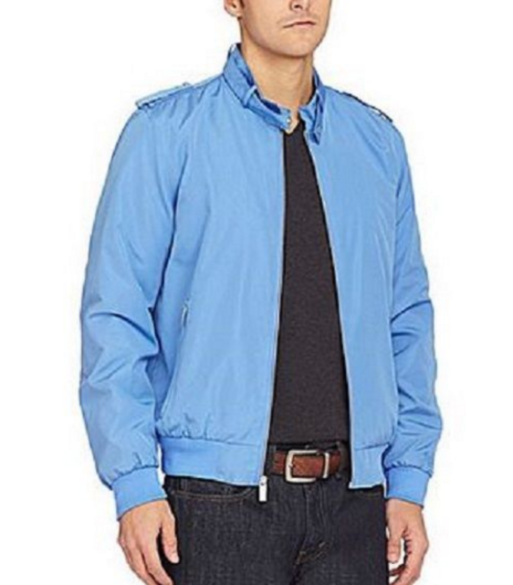 NWT Michael Kors Bellemoor Micro Jacket in Oxford Blue $225 Size M, L or XL