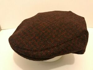 MEN/'S QUALITY HARRIS TWEED MULTI COLOURED FLAT CAP DRIVING HAT FROM SCOTLAND