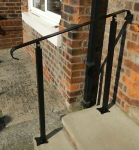 Image Is Loading Wrought Iron Handrail For Stairs Elderly Access Safety