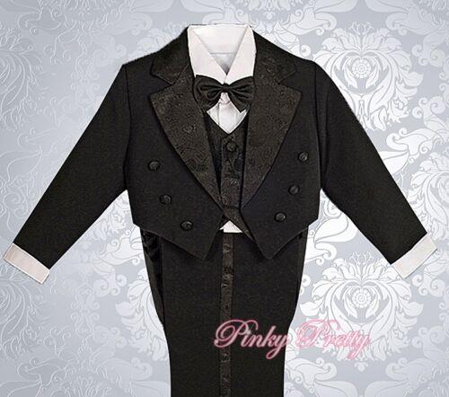 Boy 7y BV011 5pcs Formal Tuxedo Suit Wedding Pageboy Christening Baby Size 6m