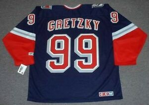WAYNE GRETZKY New York Rangers 1998 CCM Throwback Alternate NHL ... 62b560781