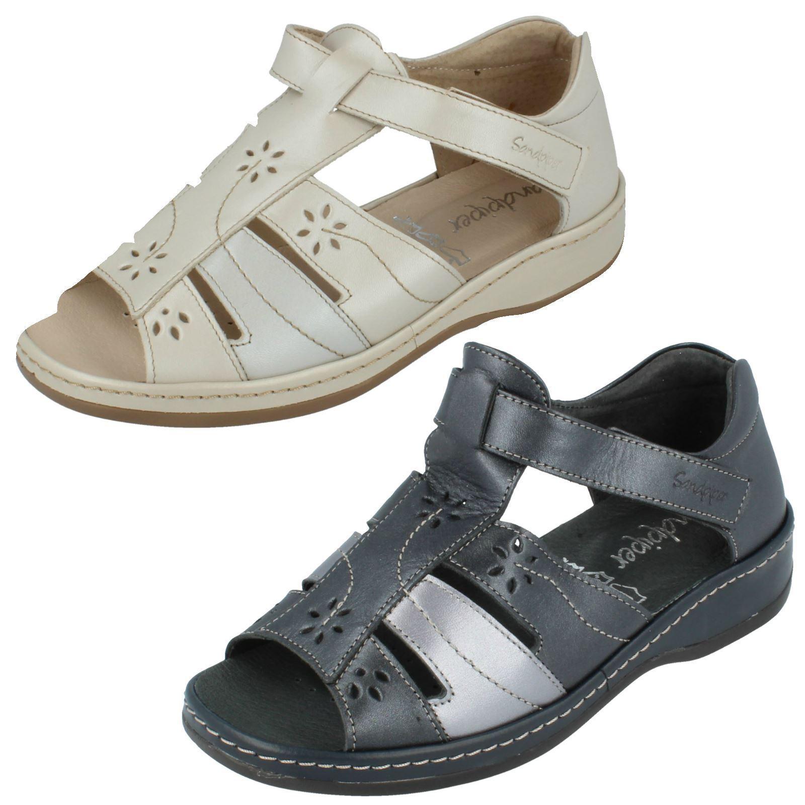 Ladies Sandpiper T-Bar Open Toe Sandals - Carly