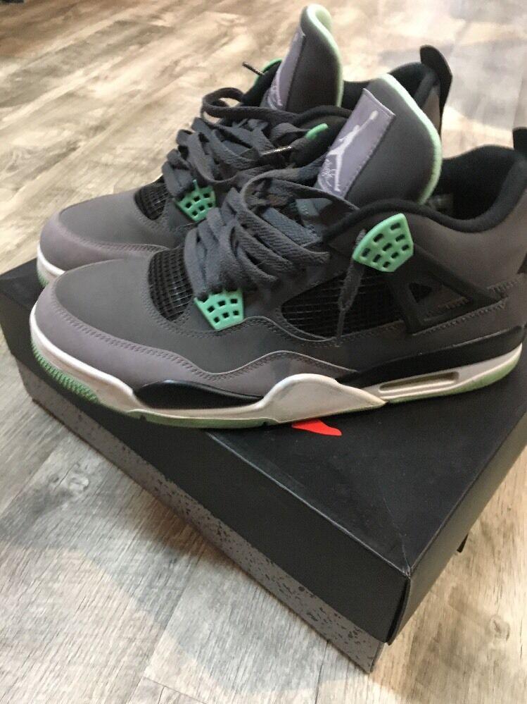Air Jordan Retro 4 Green Glows Size 11 308497 033