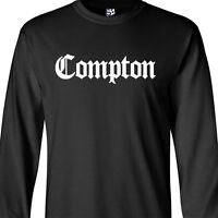 Compton Old English Long Sleeve T-shirt Nwa Eazy E Straight Outta All Size Color