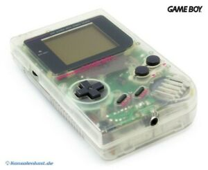 GameBoy-Konsole-transparent-Hip-Boy-grau-Classic-1989-DMG-01-Top-Zustand