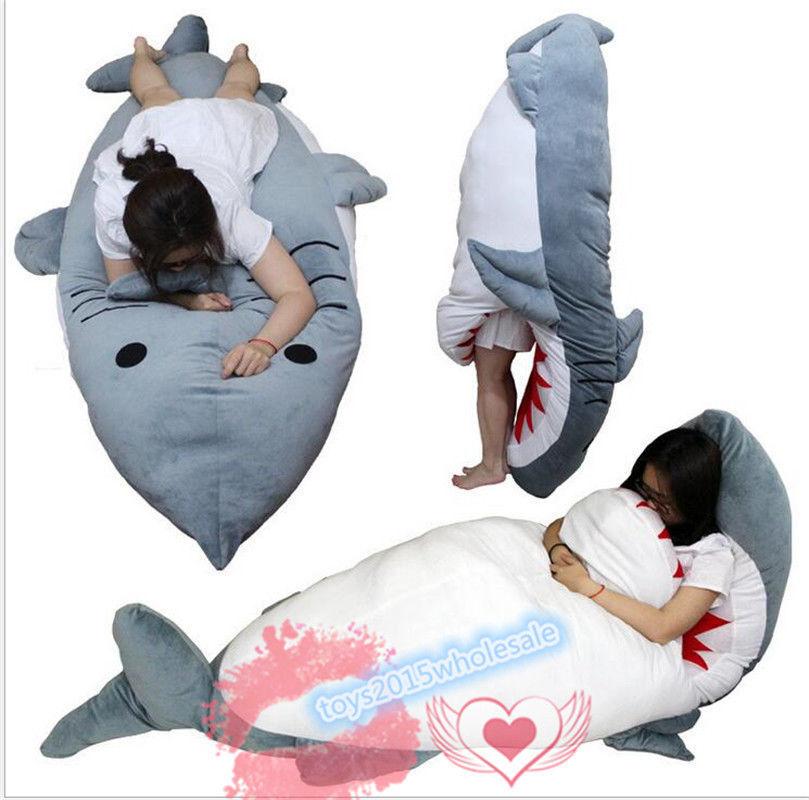 Big Shark Sleeping Bag Beanbag Sofa Bed Plush Toys Doll Cushion Floor Giant