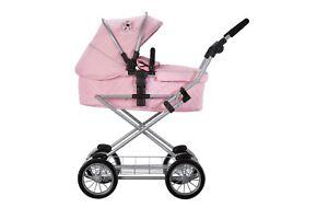 Silver Cross Sleepover Travel System Dolls Pram - Vintage Pink Fabric 7107107819351