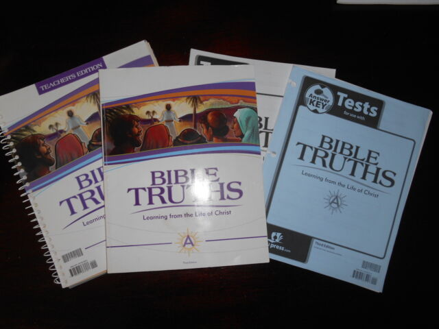 BIBLE TRUTHS A Set lot of 4 Bob Jones BJU 7th gr Homeschooling