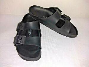 rubber black birkenstocks
