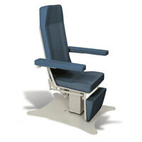 Reclining Electric Phlebotomy Chair With Cal 133 Fire Code Vinyl Steel Blue 1 Ea