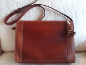 Image Is Loading Joseph Abboud Brown Leather Purse Handbag Shoulder Bag