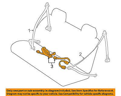 Genuine Toyota Lap Belt Assembly 73480-35010-B0