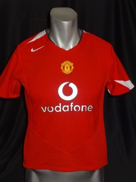 155954ef3e2 Manchester United home soccer jersey 2004 06 Rooney women and kids size M