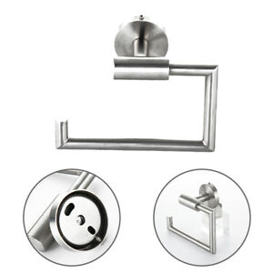 Toilettenpapierhalter-Rollenhalter-WC-Klopapier-Halter-Edelstahl-matt-gebuerstet