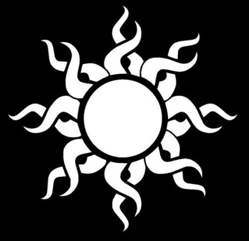 Tribal Sun Decal Sticker Window Laptop