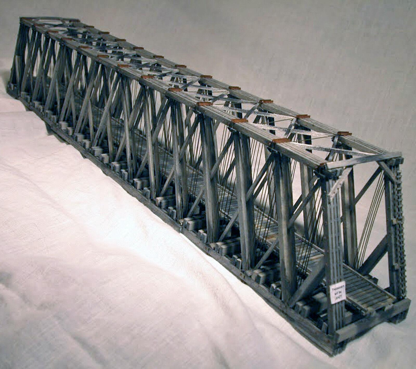 170' Puente Truss a través de Howe N modelo del ferrocarril estructura Craftsman Kit HL104N