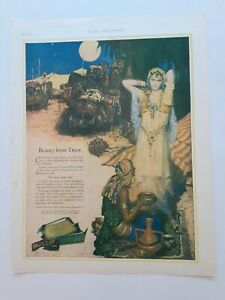 PALMOLIVE SOAP VINTAGE& RARE 1925 EGYPTIAN ART DECO STYLE AD-LADIES HOME JOURNAL