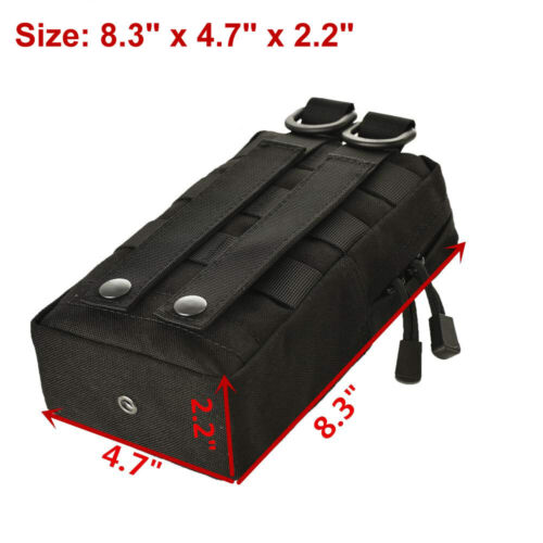 Molle Tactical Pouches Compact Utility EDC Waist Bag Pack Gear Gadget Organizer