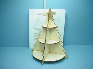Details About Miniature Christmas Tree Shelf Kit Laser Creations 1 12th Scale Wooden