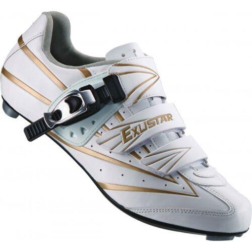 Scarpe bici corsa Exustar E SR911 Bike road shoes 37 38 39 40 41 42 44 white