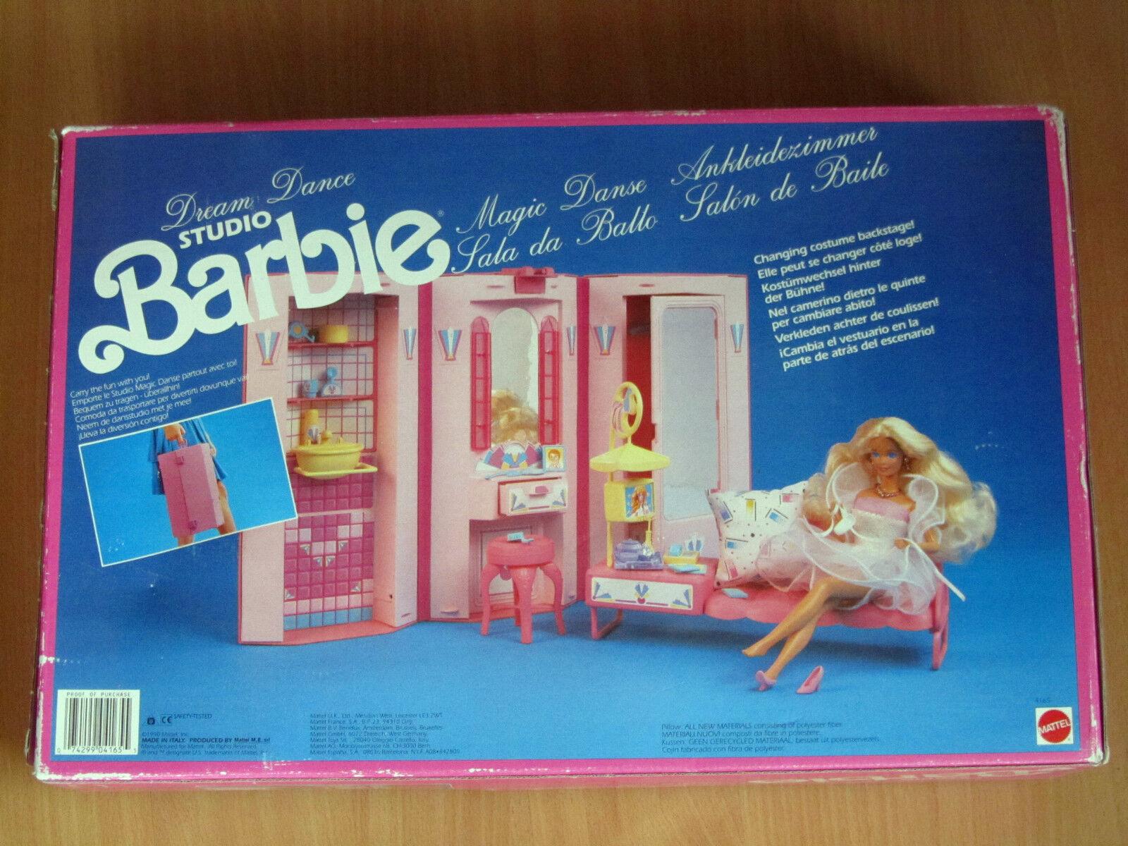 BARBIE STUDIO STUDIO STUDIO SALA DA BtuttiO 1990 RARO DREAM DANCE SALON DE BAILE MATTEL 4165 0e1230