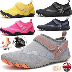 Womens Mens Water Shoes Aqua Shoes Beach Swim Barefoot Non Slip Surfing Size