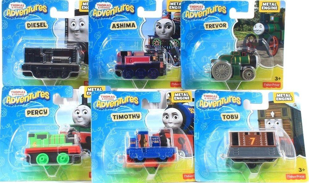 6 Greve Fisher Price Thomas och vänner äventyrs Metal Engine Variety Set 3 & Up