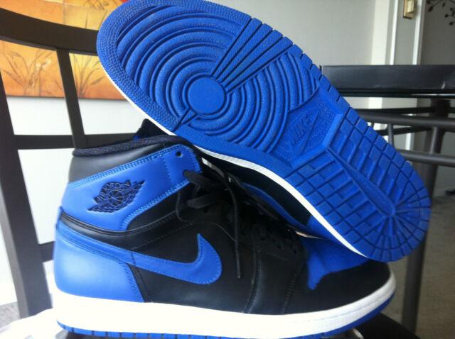Nike Air Jordan I 1 Retro High OG 2013 Royal Blue Black 555088-085 Sz 11.5 a066da3df