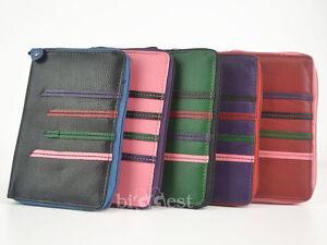 New-LADIES-Slim-Leather-Zip-Around-COIN-PURSE-by-Dominique-5-Designer-Colours