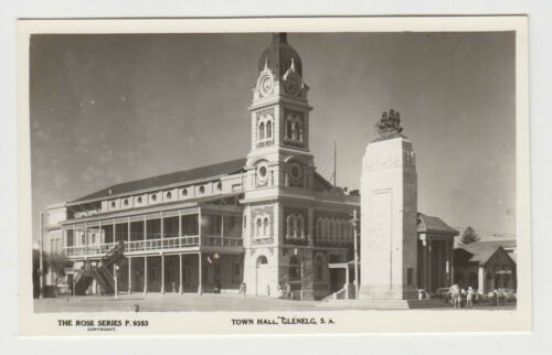 Real photo George Rose postcard of Town Hall Glenelg South Australia, unused
