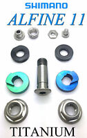 Shimano Alfine 11 Speed: Eleven Parts Set In Titanium For Hub And Chaintender