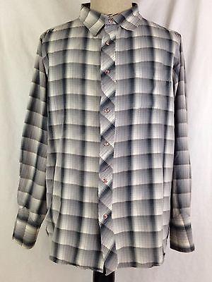 Fred & Howard Mens Cowboy Western Shirt 2XL XXL Size Plaid Rodeo Pearl Snaps