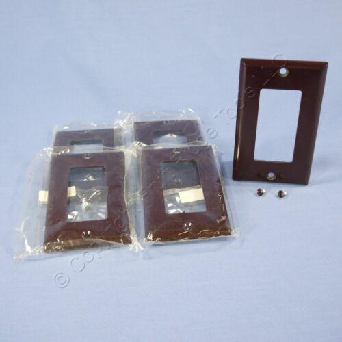 5 Eagle Brown Standard 1G Decorator GFI GFCI Cover Thermoset Wallplates 2151B