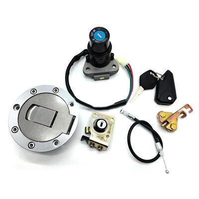 Fuel Gas Cap Lock+Key Ignition Switch Fits kawasaki Ninja ZX6R ZX7R//7RR ZX9R BOS