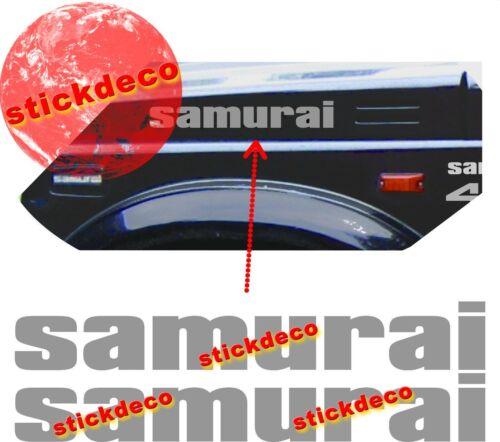 X2 SUZUKI SJ SAMURAI 4x4 JEEP decals Capot autocollant stickers sticker