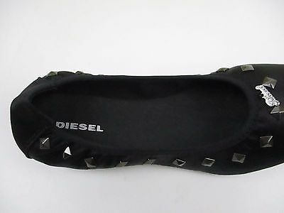Authentic Diesel Girls BA2 Studs Trendy Ballerina Style Shoes Boxed Many Sizes