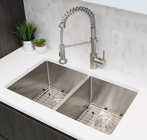 Single Handle Pull Down Kitchen Faucet Brushed Nickel