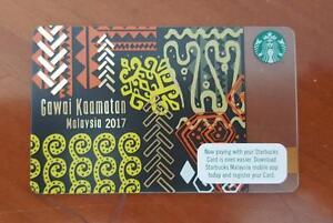 Starbucks-Malaysia-Card-Gawai-Kaamatan-2017-very-RARE-Collectible-Festival-Tribe