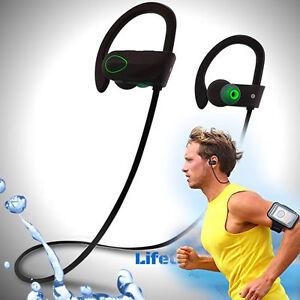 Resistenti al sudore wireless bluetooth cuffie auricolari sport gym per iphone ebay - Cuffie per sport ...