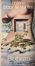 PUBLICITÉ 1974 BIOTHERM CRÈME A BASE DE PLANCTON THERM - SEINS NUS - ADVERTISING