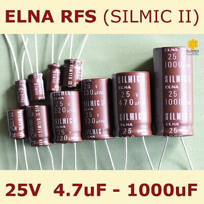 6 pcs Elna Silmic II capacitor 6.3v 33uf Audio Grade Premium