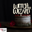 """Personalised Wooden /""""Gender Reveal Wizard//Witch/"""" Cake Topper Boy//Girl 21x16cm"""