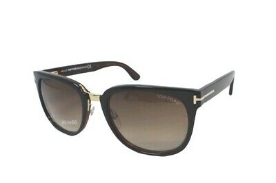 Tom Ford Square Sunglasses TF290 Rock 01F Black//Gold 55mm FT0290