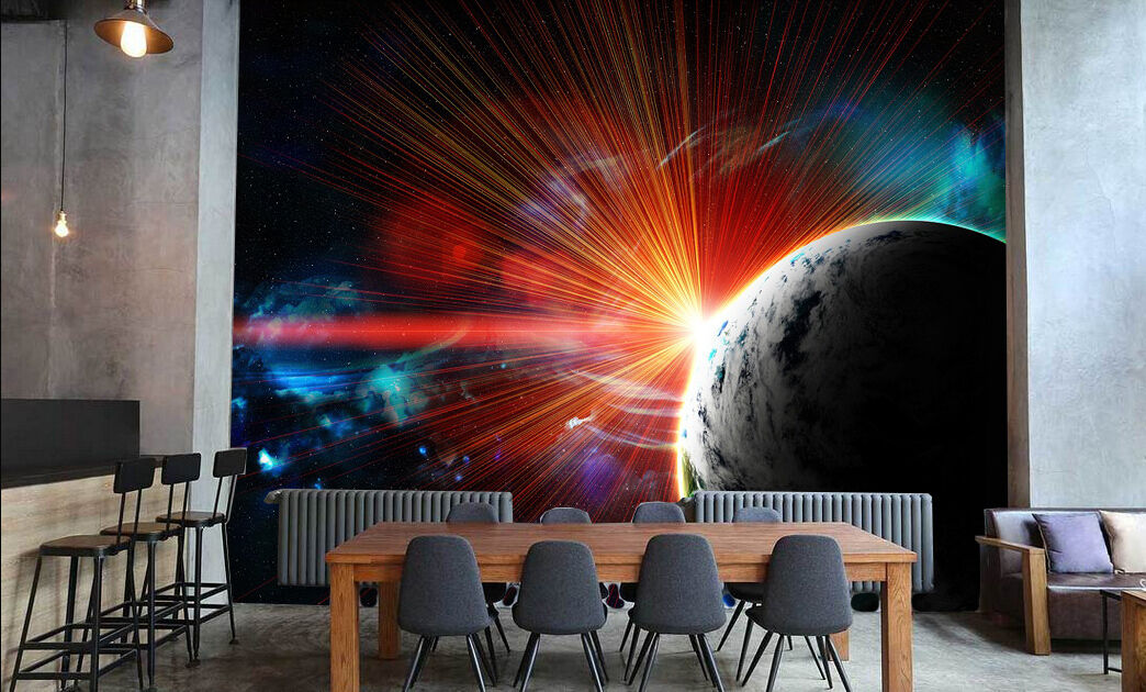 3D Star Light 834 Wallpaper Mural Paper Wall Print Wallpaper Murals UK