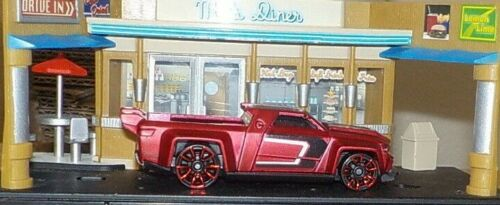 Satin Red Version HOT WHEELS Loose Solid Muscle