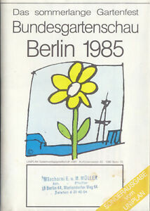 Stadtplan-Bundesgartenschau-1985-Suedosttteil-von-Berlin-West-Buga-Gelaende