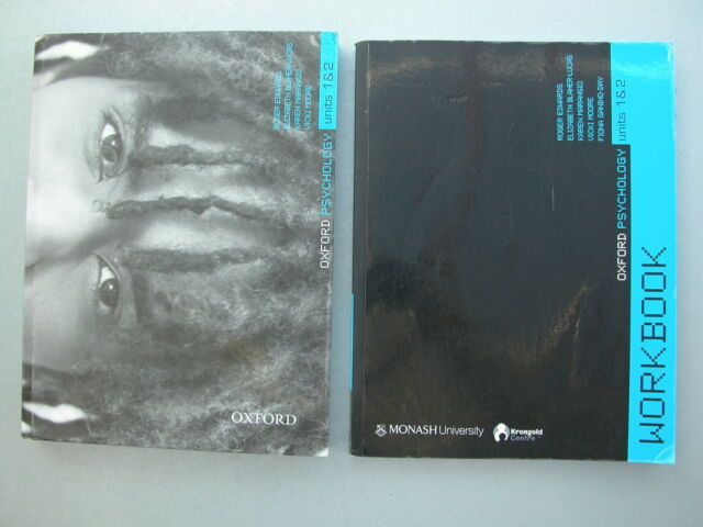 *OXFORD VCE PSYCHOLOGY 1 & 2 Student Book 9780195567168 + Workbook 9780195567182