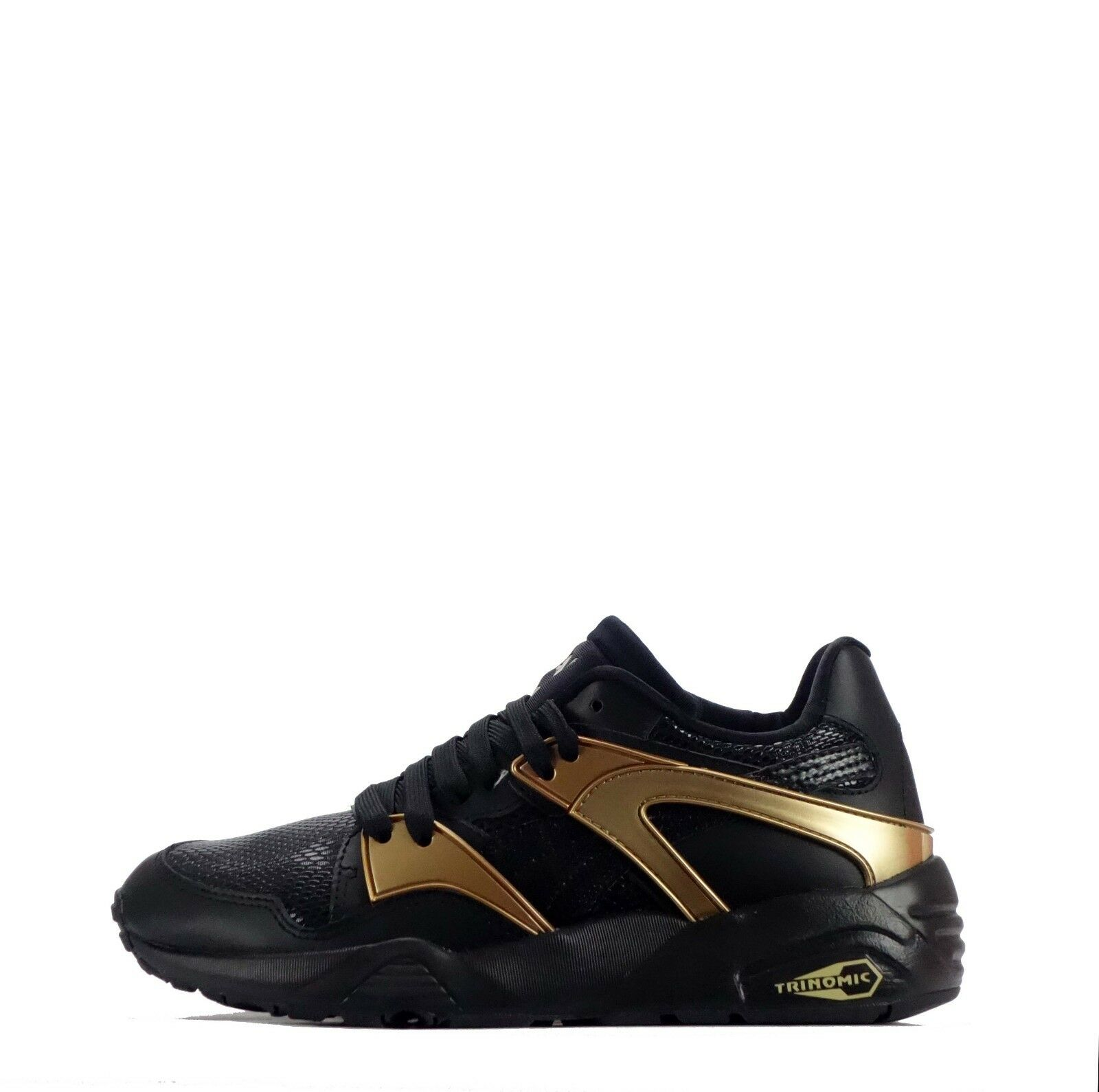 Puma Blaze gold Women's Leather shoes Black Black Black gold 653b16