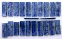1  25x8 Rectangle Baguette Polish Double Sided Silver Flash Kyanite Cab Cabochon